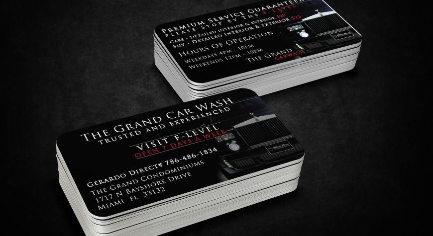 business cards the grand car wash - Business Cards Miami