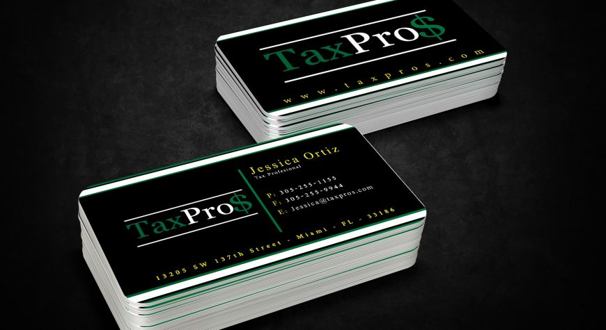 Business cards tax pros inc miami print housemiami print house business cards tax pros inc colourmoves